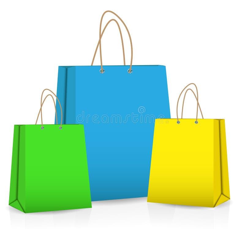Lege het Winkelen Zak voor reclame en het brandmerken stock illustratie