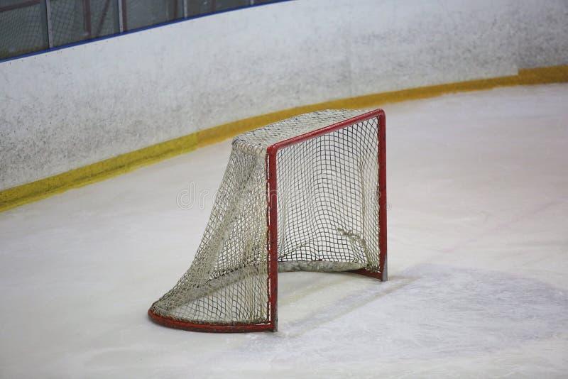 Lege hockeypoort stock foto's