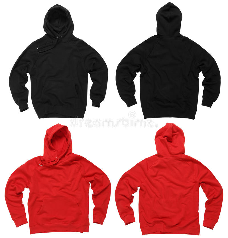 Lege hoodiesweatshirts stock afbeelding