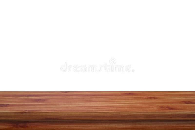 Lege hoogste houten die lijst op witte die achtergrond wordt geïsoleerd voor vertoning of montering uw producten wordt gebruikt royalty-vrije stock afbeeldingen