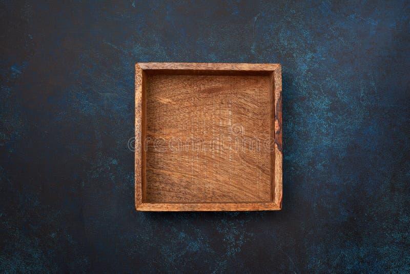 Lege houten doos stock afbeelding