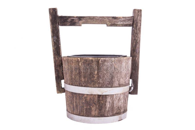 Lege houten emmer royalty-vrije stock foto
