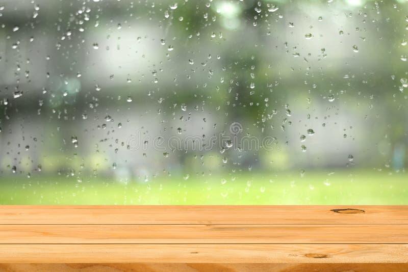 Lege houten lijst stock fotografie