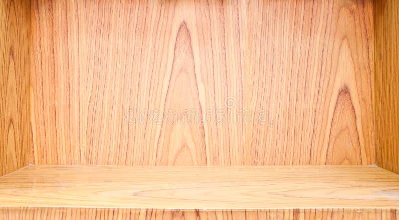 Lege houten plank royalty-vrije stock fotografie