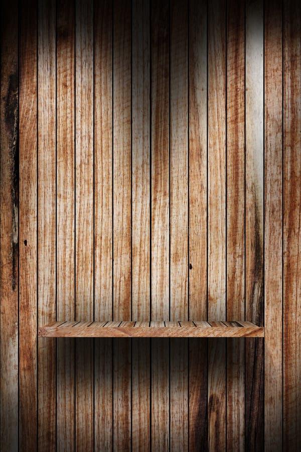 Lege houten plank stock afbeelding