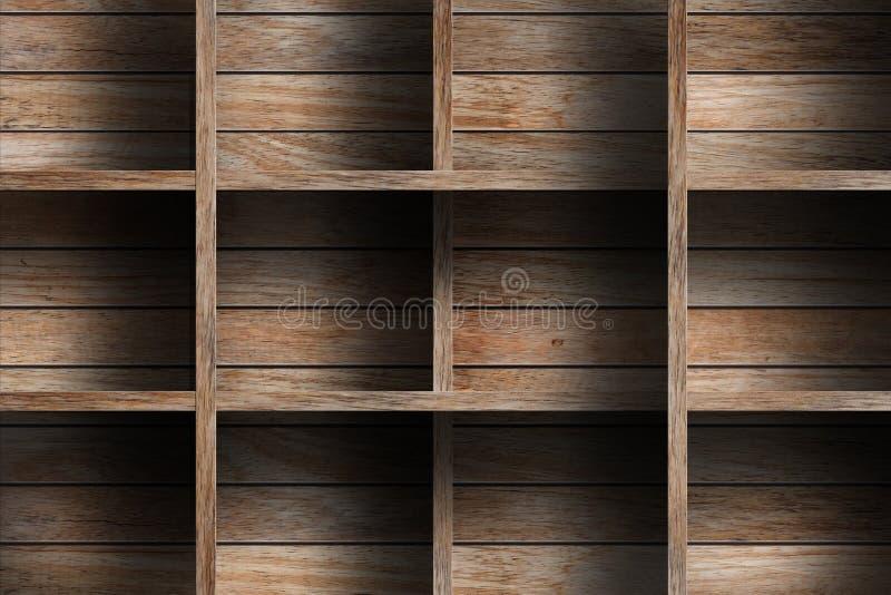 Lege houten plank stock foto