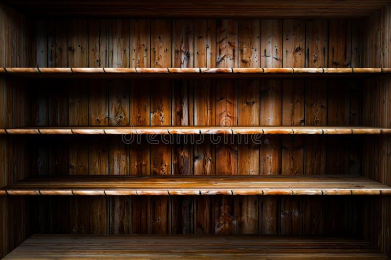 Lege houten plank royalty-vrije stock foto