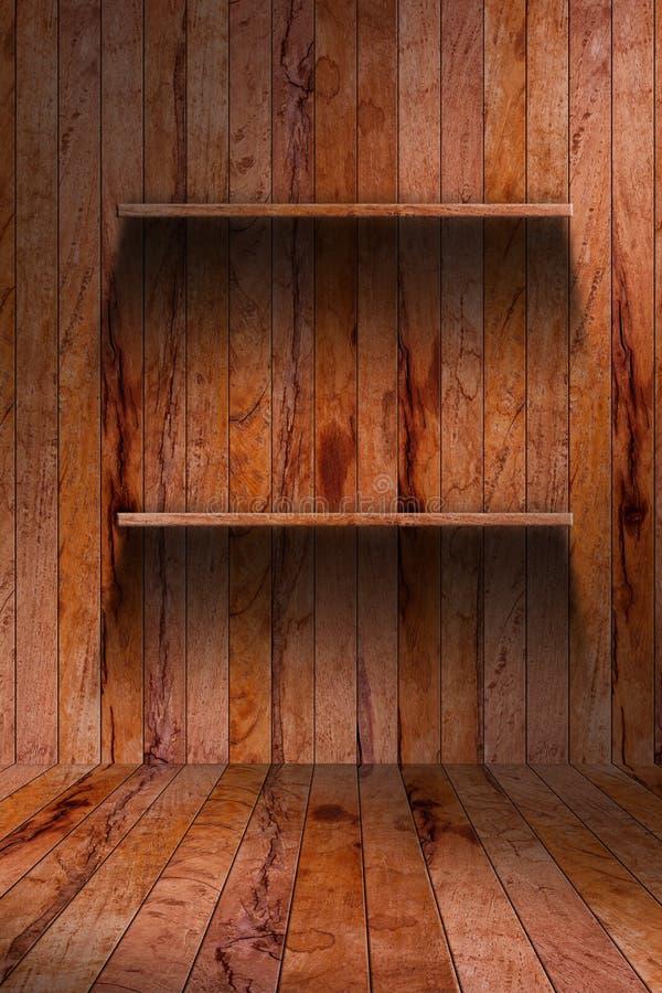 Lege houten plank. grunge industrieel binnenland royalty-vrije stock afbeelding