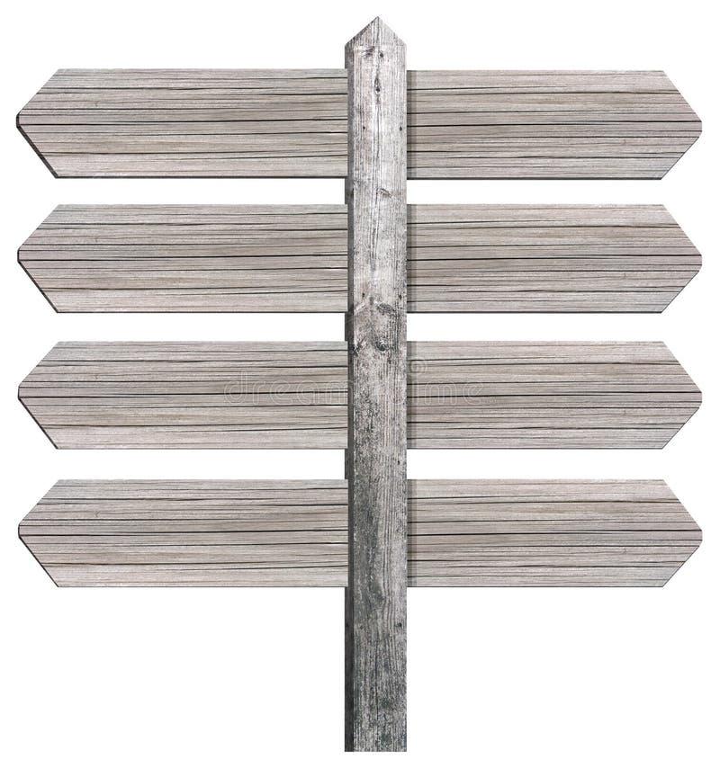 Lege houten voorziet van wegwijzers royalty-vrije stock afbeeldingen