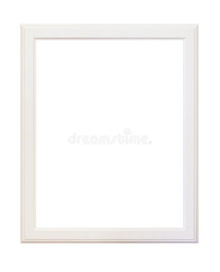 Lege houten witte geïsoleerde omlijsting royalty-vrije stock fotografie