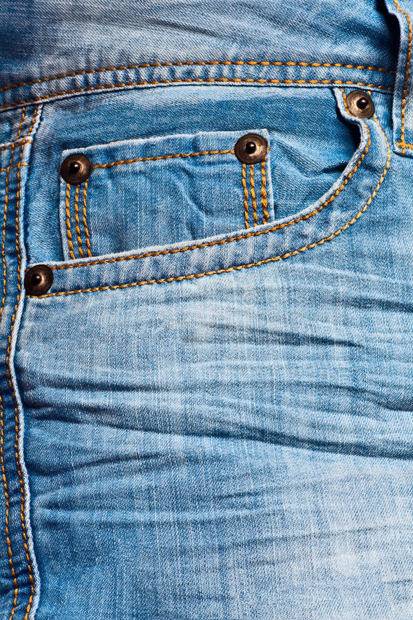 Lege jeanszak stock afbeelding