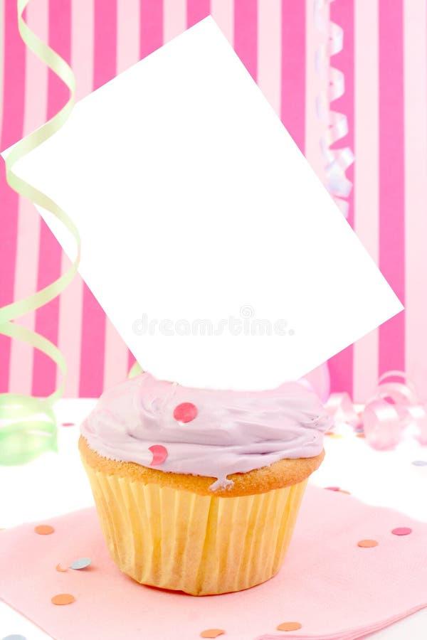 Lege kaart cupcake royalty-vrije stock afbeeldingen