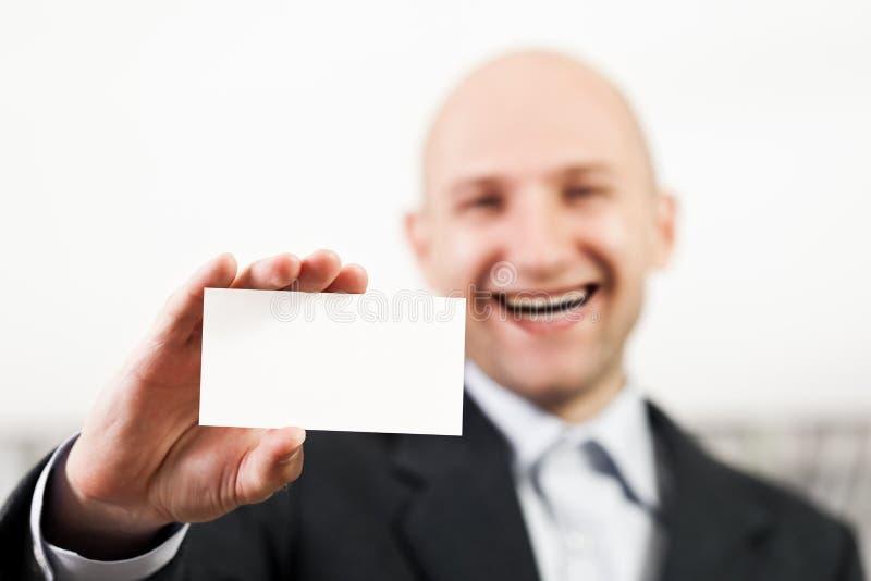 Lege kaart in mensenhand stock foto's