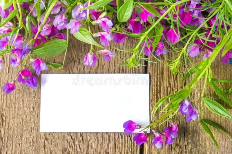 Lege kaart met bloemen stock afbeeldingen