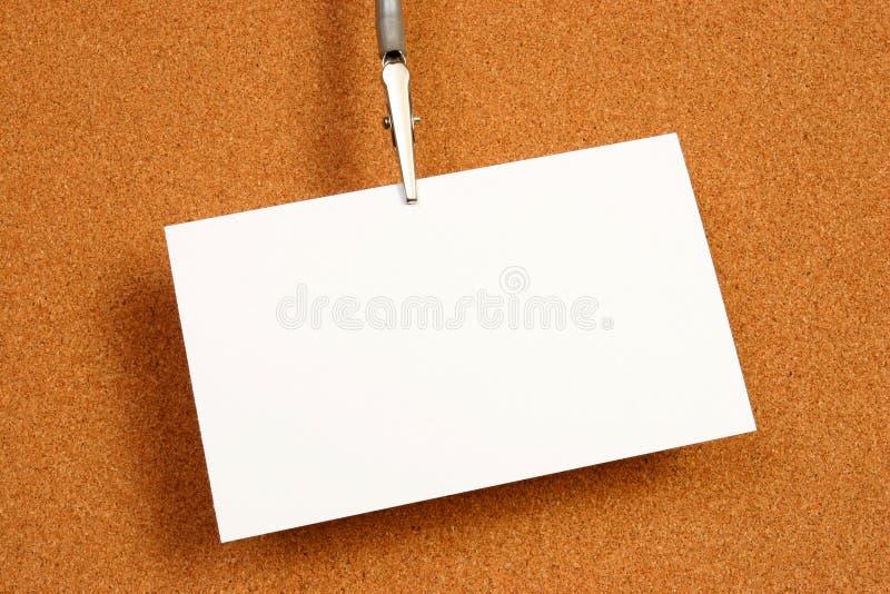 Lege kaart over een raad stock afbeeldingen
