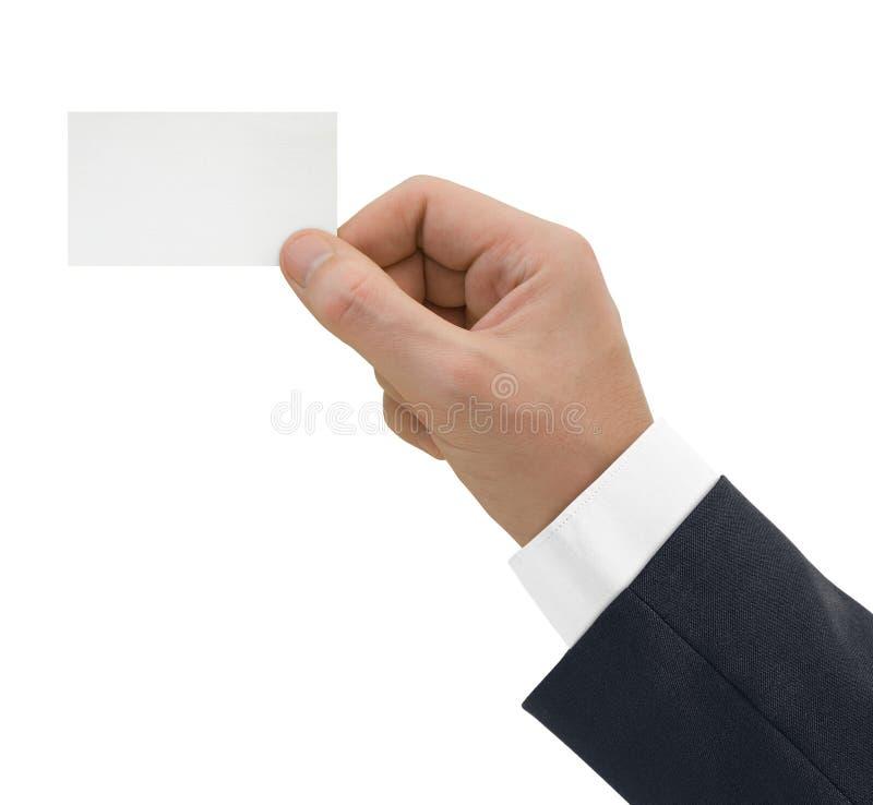 Lege kaart ter beschikking royalty-vrije stock afbeelding