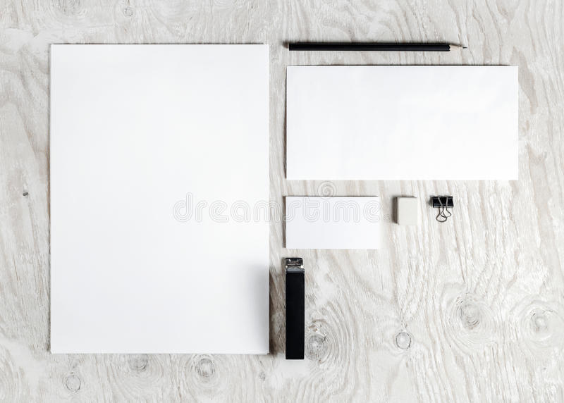 Lege kantoorbehoeftenspot omhoog stock foto