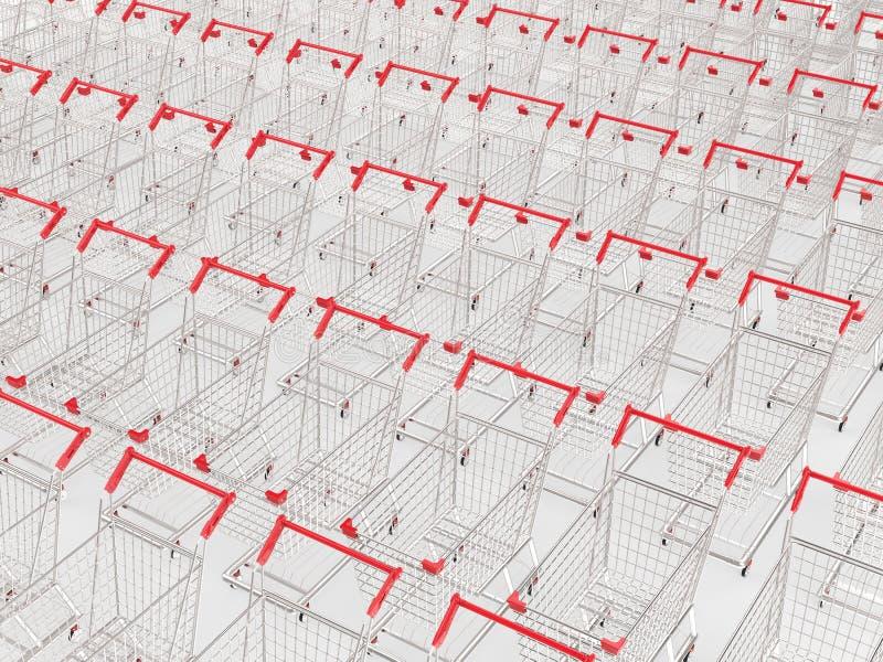 Lege karren op een rij stock illustratie