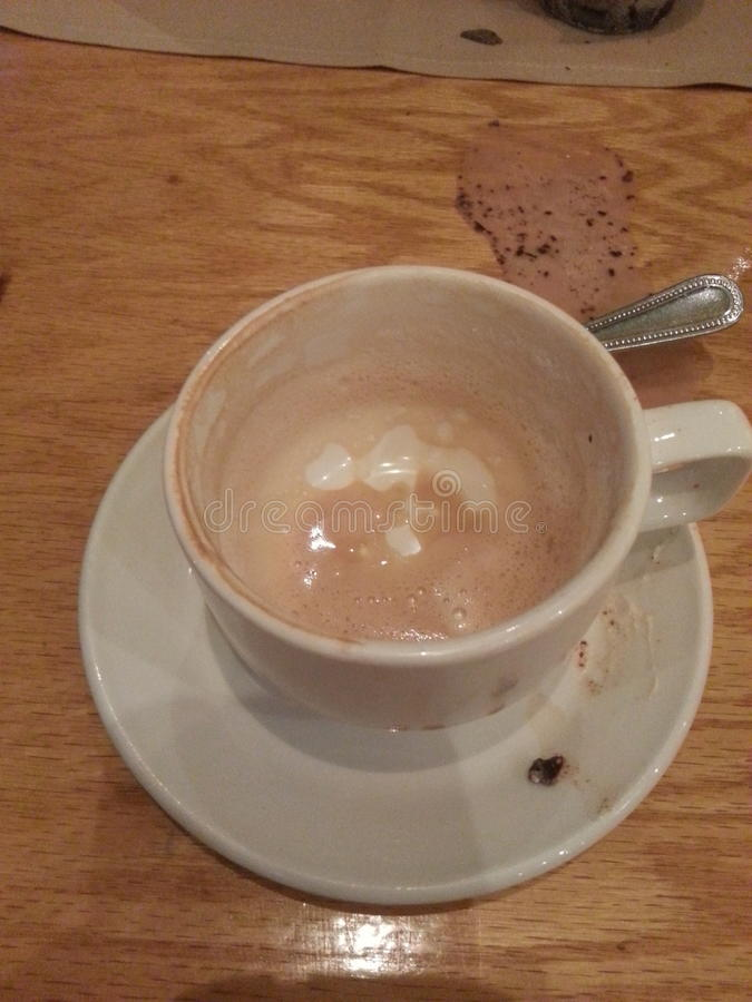 Lege koffiekop royalty-vrije stock afbeelding