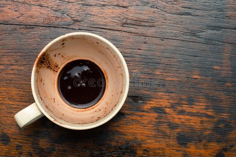 Lege koffiekop stock afbeelding
