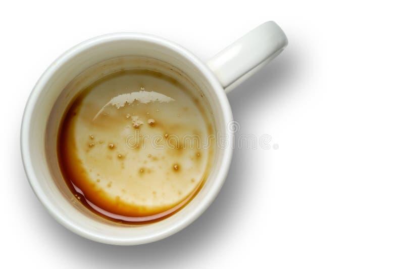 Lege koffiekop met het knippen van weg royalty-vrije stock afbeeldingen