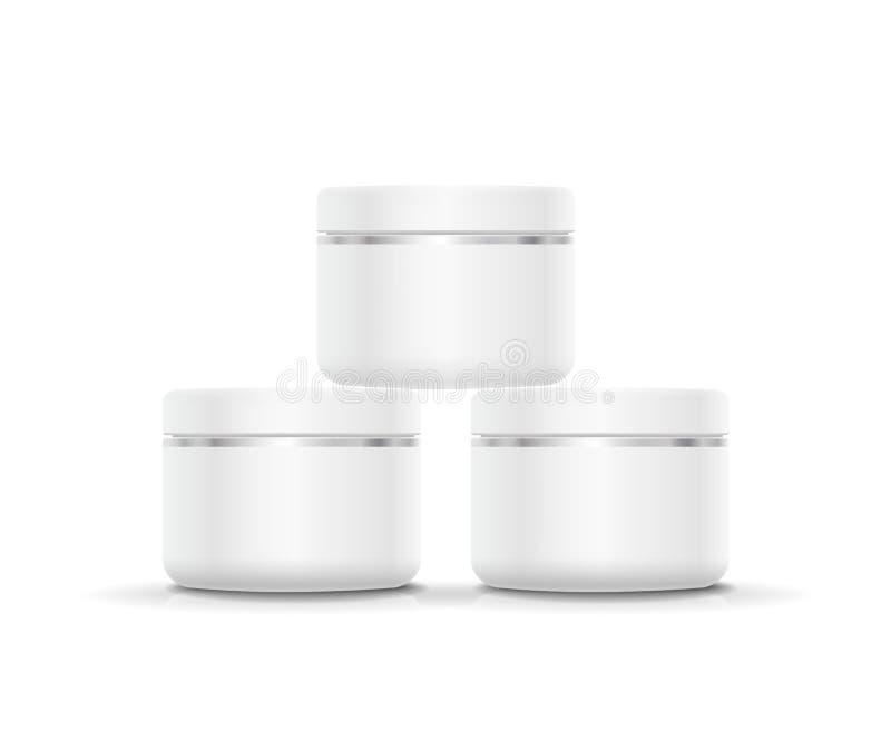 Lege Kosmetische Container voor Room, Poeder of Gel vector illustratie