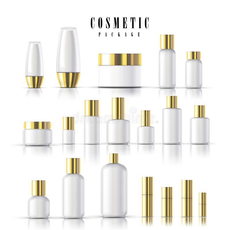 Lege kosmetische pakketinzameling vector illustratie