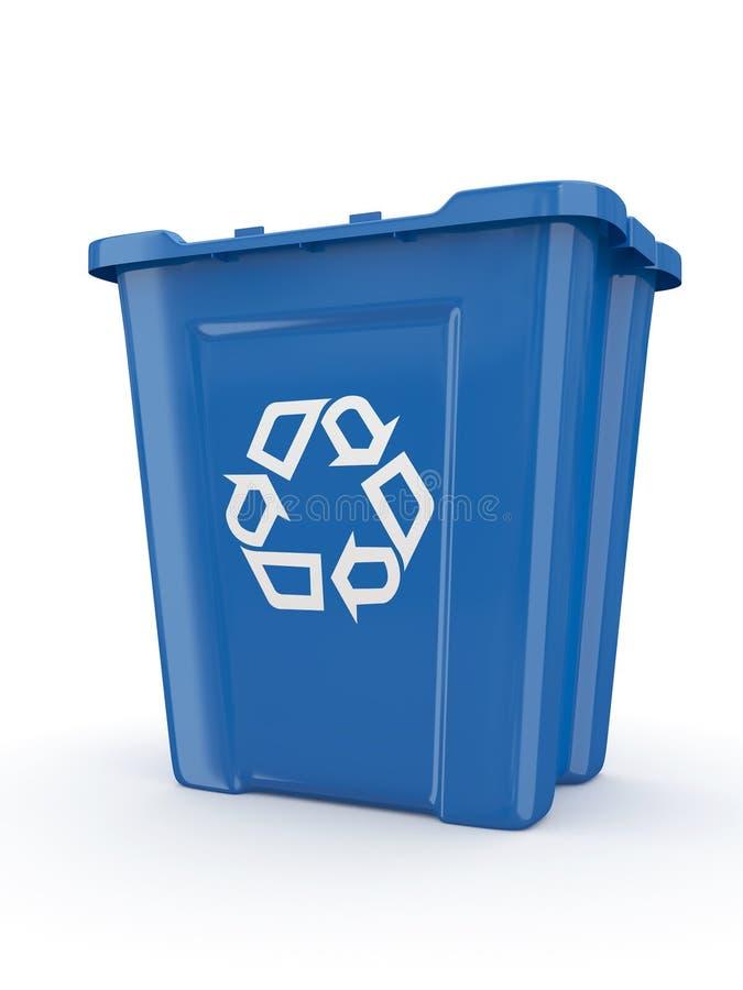Lege kringloopbak met teken recycling royalty-vrije illustratie