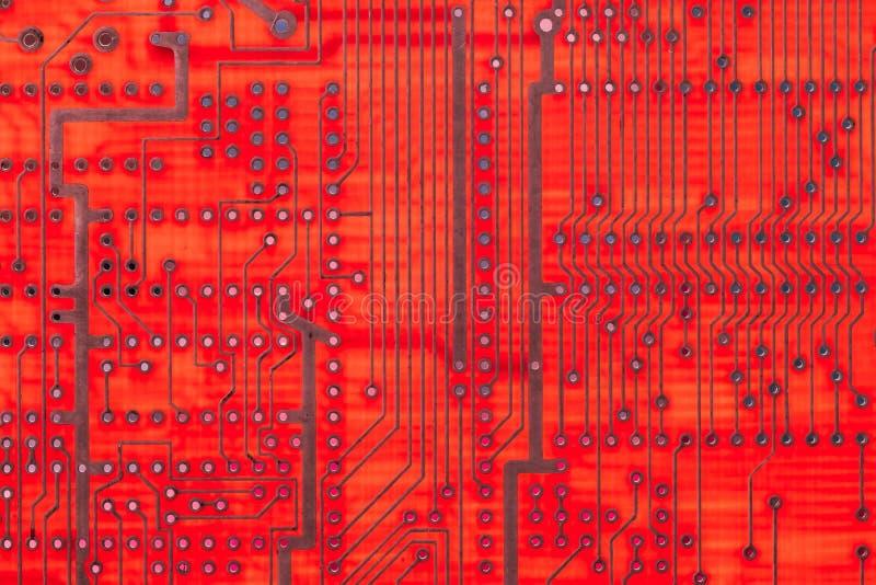 Lege kringsraad, PCB gedrukte technologie, macrokaart royalty-vrije stock afbeeldingen