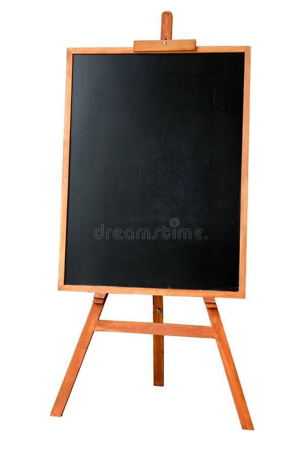Lege kunstraad, houten schildersezel royalty-vrije stock afbeelding