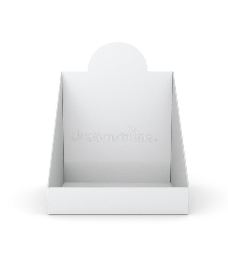 Lege lege houder of doosvertoning voor producten stock afbeeldingen
