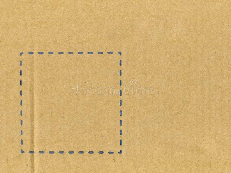 Lege lijst van een karton royalty-vrije stock afbeelding