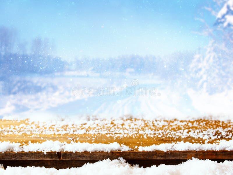 Lege lijst voor magisch de winterlandschap royalty-vrije stock foto