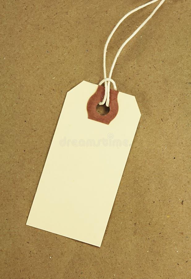 Lege Markering op Pakpapier stock fotografie