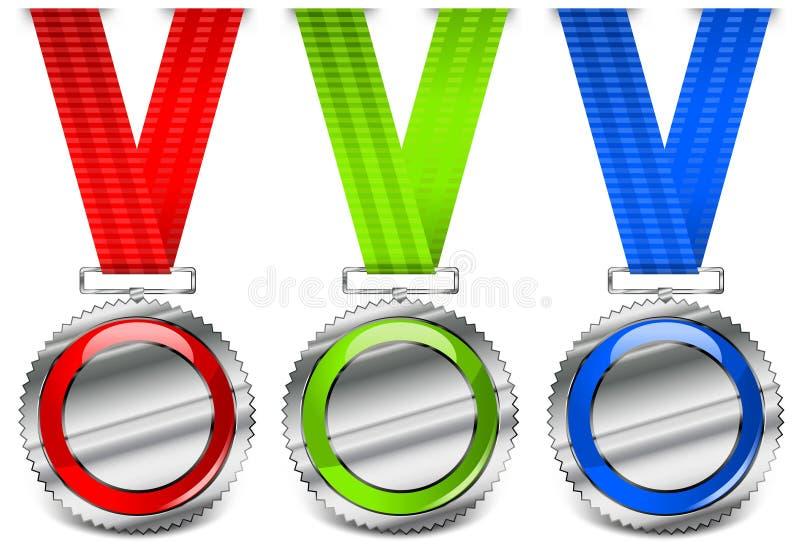 Lege medailles royalty-vrije illustratie