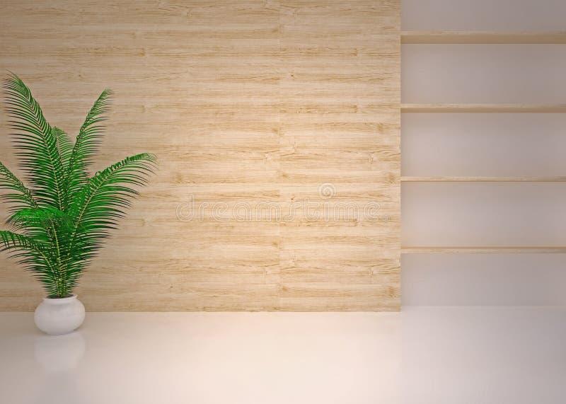 Lege moderne binnenlandse woonkamer, zitkamer stock afbeeldingen
