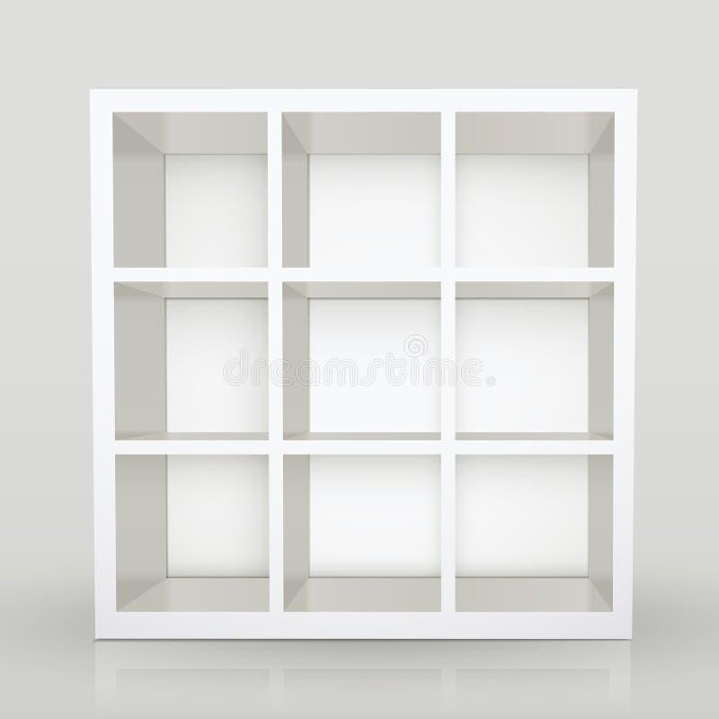 Lege moderne boekenkast vector illustratie. Illustratie bestaande ...