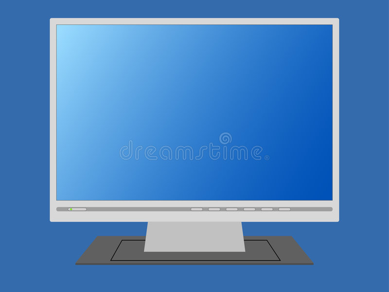 Lege monitor. royalty-vrije illustratie