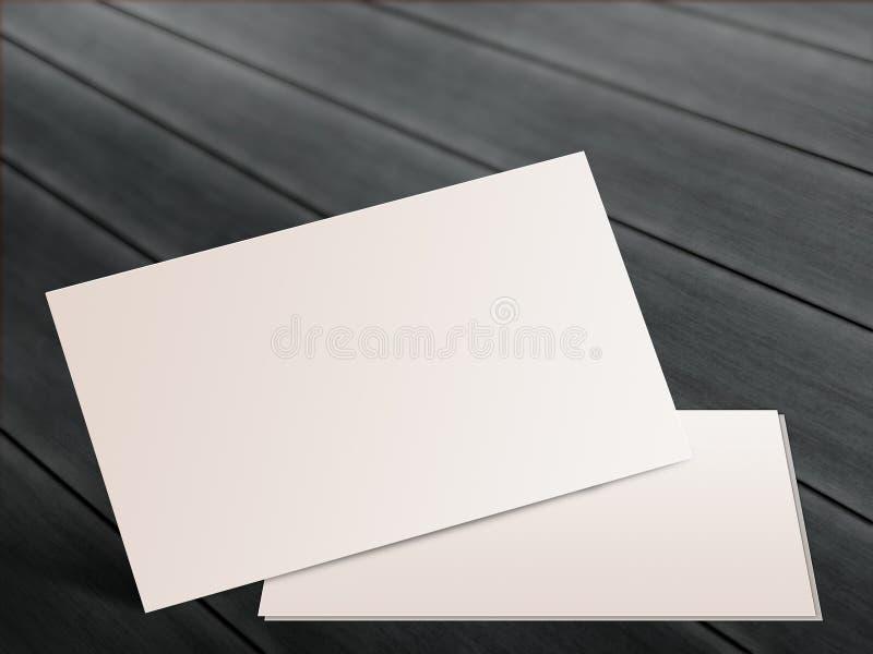 Lege naamkaarten op houten achtergrond royalty-vrije stock foto