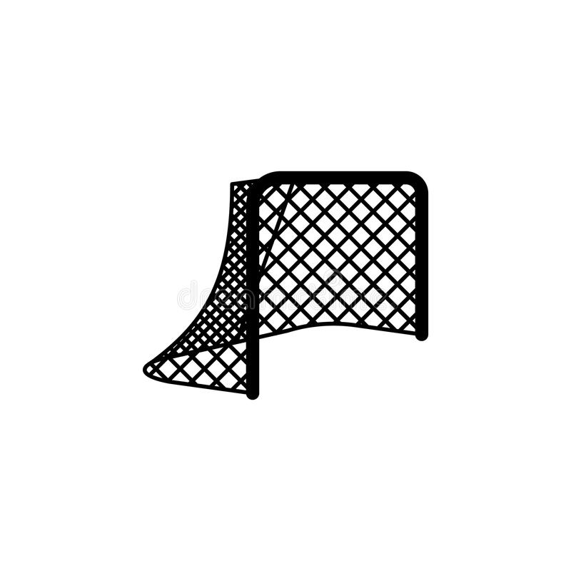 Lege netto Hockeypoorten royalty-vrije illustratie