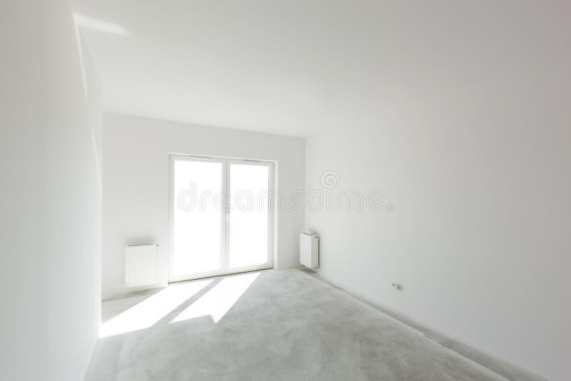 Lege nieuwe flat voor binnenlandse regeling Vensterlicht royalty-vrije stock foto