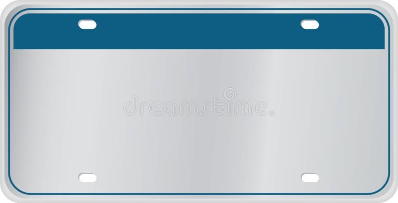 Lege Nummerplaat vector illustratie