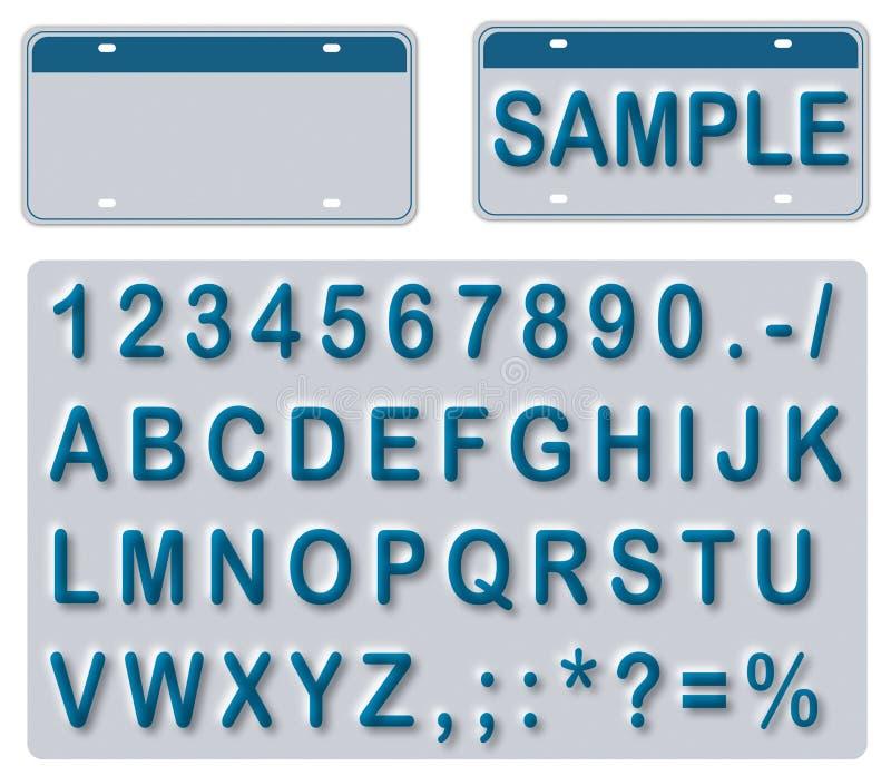 Lege Nummerplaat met Teksten Editable royalty-vrije illustratie