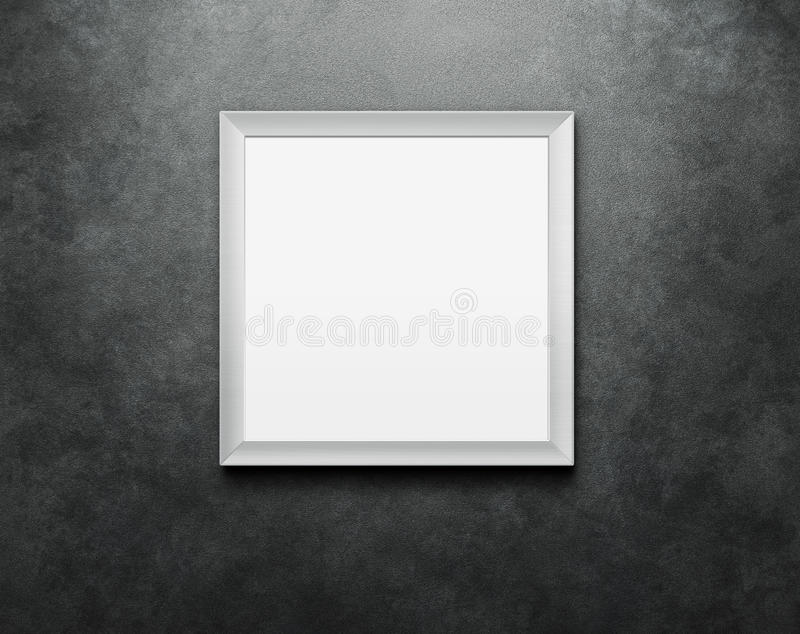 Lege omlijsting bij de muur royalty-vrije stock afbeeldingen