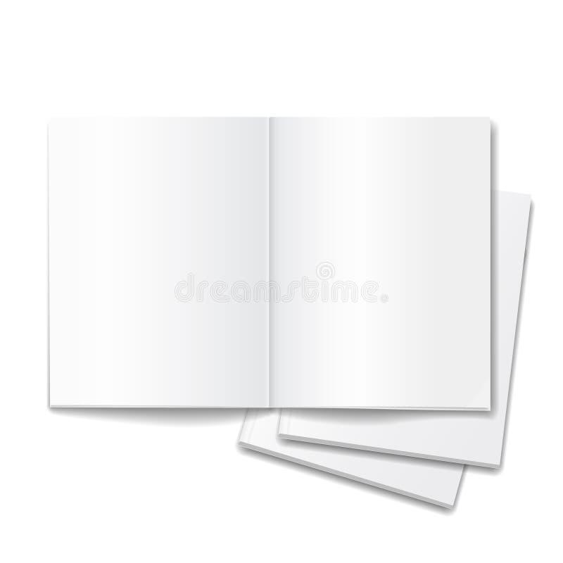 Lege open die boeken over witte achtergrond worden geïsoleerd vector illustratie