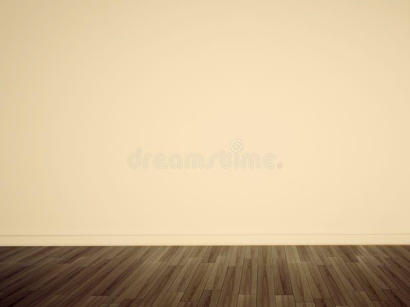 Lege oranje muur stock afbeelding