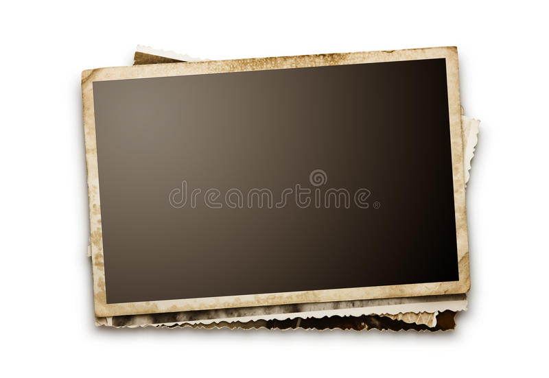 Lege oude foto's stock fotografie