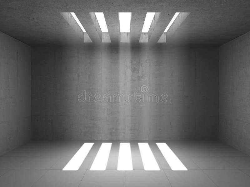 Lege pakhuisruimte vector illustratie