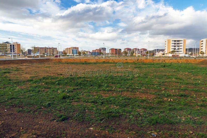 Lege partijen voor een Woonwijk in aanbouw royalty-vrije stock afbeeldingen
