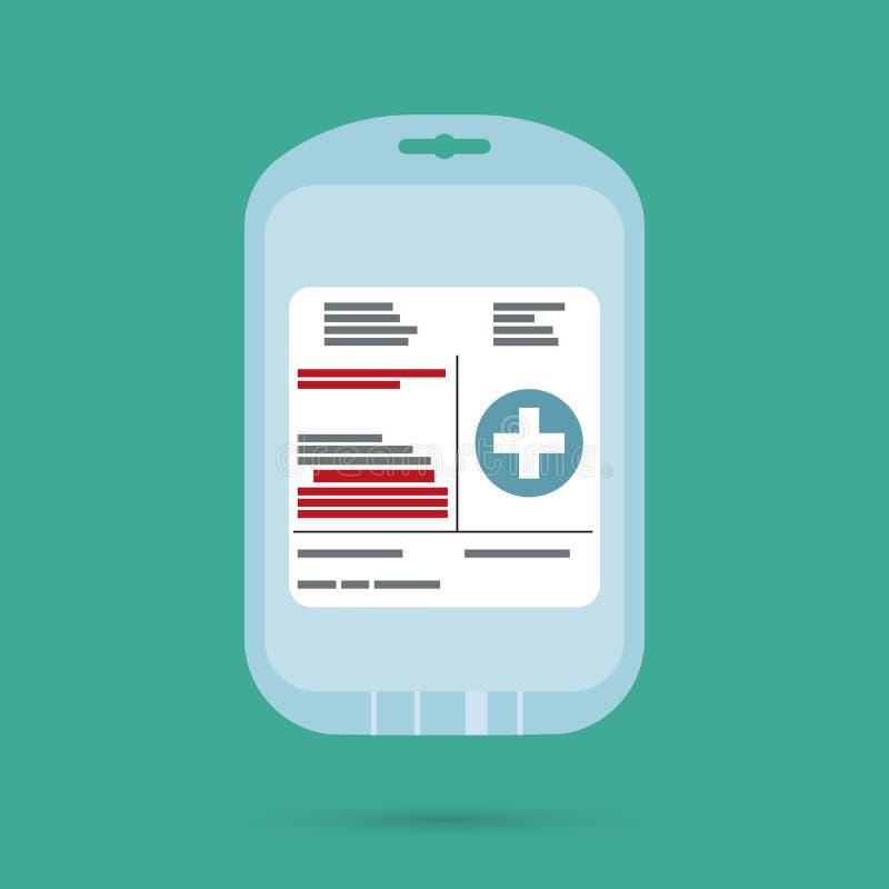 Lege plastic container voor plasma en bloed royalty-vrije illustratie